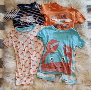Lot of 4 Carter's Pajamas, Size 5T